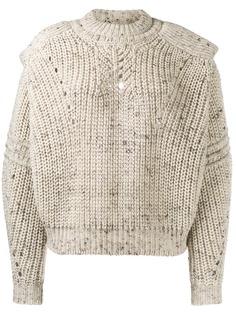 Isabel Marant свитер фактурной вязки с вырезами