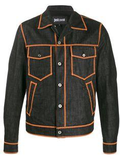 Just Cavalli джинсовая куртка с контрастным логотипом