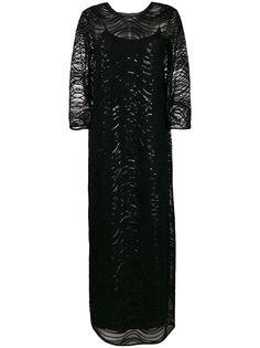 Emporio Armani вечернее платье с пайетками