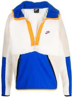 Nike флисовая куртка с капюшоном