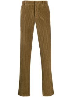 Incotex вельветовые брюки прямого кроя