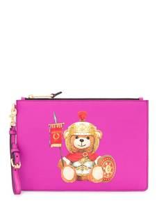 Moschino клатч Teddy Bear с логотипом