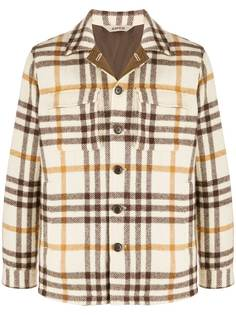 Aspesi клетчатая куртка-рубашка