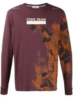 Stone Island футболка с длинными рукавами и логотипом