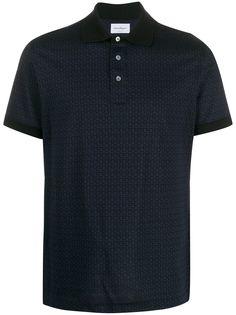 Salvatore Ferragamo рубашка-поло с узором Gancini