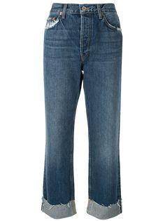 RE/DONE прямые джинсы с подворотами