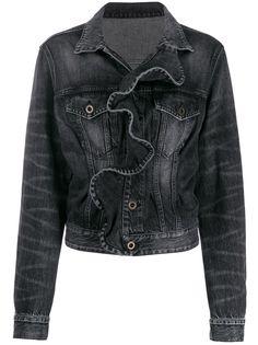 Unravel Project джинсовая куртка с оборками