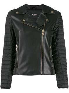 Twin-Set куртка из искусственной кожи с дутыми рукавами