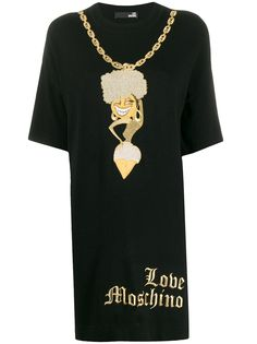 Love Moschino платье с вышивкой
