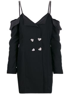 Silvia Astore декорированное платье-смокинг
