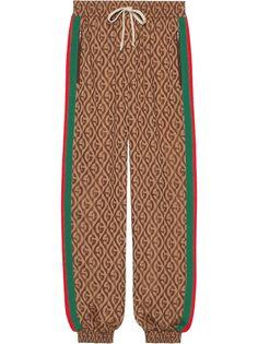 Gucci спортивные брюки с монограммой