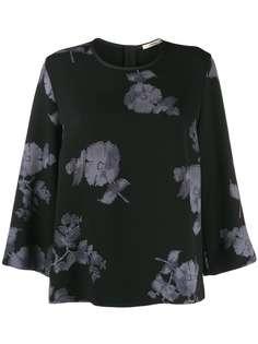 Odeeh блузка с цветочным принтом