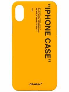 Off-White чехол для iPhone X с принтом