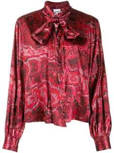 Ganni блузка с завязками