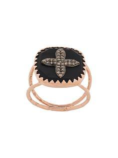 Pascale Monvoisin кольцо Bowie N°2 Black Diamond из розового золота с бриллиантами