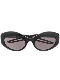 Balenciaga Eyewear солнцезащитные очки Hybrid в овальной оправе