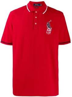 Polo Ralph Lauren рубашка-поло с нашивкой USA