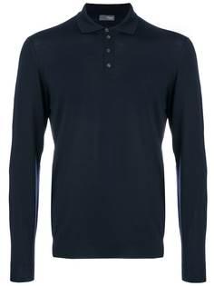 Drumohr футболка-поло с длинными рукавами