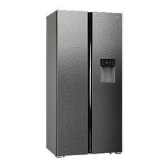 Холодильник HIBERG RFS-484DX NFXq, двухкамерный, серебристый