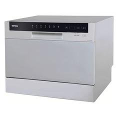 Посудомоечная машина KORTING KDF2050S, компактная, серебристая [9075]