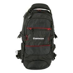 Рюкзаки, чемоданы, сумки Рюкзак Wenger 1200D PU (13022215) 26x5x47см 22л. 1.12кг. полиэстер черный/красный