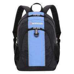 Рюкзак Wenger чёрный/голубой 17222315 32x14x45см 20л.