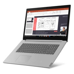 "Ноутбук LENOVO IdeaPad L340-17IWL, 17.3"", Intel Core i7 8565U 1.8ГГц, 8Гб, 1000Гб, 128Гб SSD, Intel UHD Graphics 620, Free DOS, 81M0004BRK, серый"