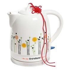 Чайник электрический ENDEVER Skyline KR-430C, 1600Вт, белый и рисунок