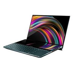 """Ноутбук ASUS ZenBook Pro Duo UX581GV-H2002T, 15.6"""", Intel Core i7 9750H 2.6ГГц, 16Гб, 1Тб SSD, nVidia GeForce RTX 2060 - 6144 Мб, Windows 10, 90NB0NG1-M00220, темно-синий"""