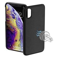 Чехол (клип-кейс) HAMA Magnet, для Apple iPhone X/XS, черный [00185186]