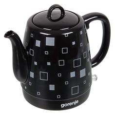 Чайник электрический GORENJE K10BKC, 1630Вт, черный матовый