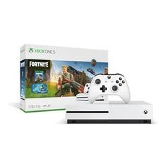 Игровая консоль MICROSOFT Xbox One S с 1 ТБ памяти, игрой Fortnite, 234-00713, белый