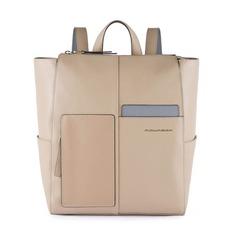 Рюкзак женский Piquadro Echo CA4847W100/SA бежевый натур.кожа