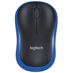 Мышь беспроводная Logitech M185 Black/Blue (910-002239)