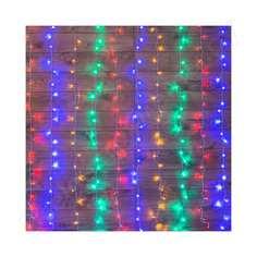Гирлянда neon-night дождь (занавес) 2.5x2 м, прозрачный пвх, 300 led мультиколор, ip20 235-059