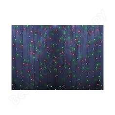 Гирлянда neon-night дождь занавес 1.5х1.5м, прозрачный пвх, 144 led мультиколор ip20 235-039