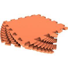 Коврик-пазл Eco-cover цвет: оранжевый (9 дет.) 100 х 100 см