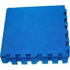 Коврик-пазл Eco-cover цвет: синий (9 дет.) 100 х 100 см
