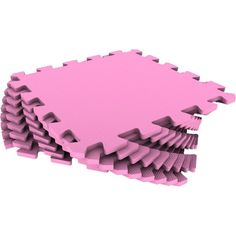 Коврик-пазл Eco-cover цвет: розовый (9 дет.) 100 х 100 см