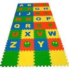Коврик-пазл Eco-cover Английский алфавит (32 дет.) 200 х 100 см