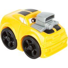 Машинка Mega Bloks Гоночная желто-серая, 3 дет.