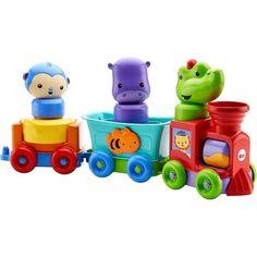 Развивающая игрушка Fisher-Price Обучающий поезд Друзья-животные