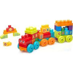 Развивающая игрушка Mega Bloks Обучающий поезд Алфавит