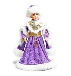 Кукла Новогодняя сказка Снегурочка в фиолетовом 40 см