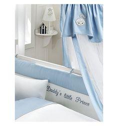 Bebe Luvicci Балдахин Little Wings 150 x 450 см, цвет: белый/голубой