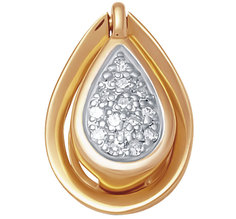 Золотые кулоны, подвески, медальоны Кулоны, подвески, медальоны Vesna jewelry 3969-151-01-00