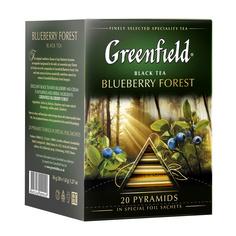 Чай черный Greenfield Blueberry Forest в пирамидках 20х2 г