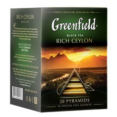 Чай черный Greenfield Rich Ceylon в пирамидках 20х2 г