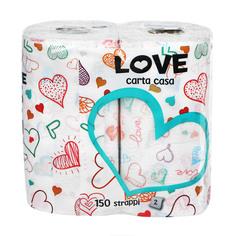 Полотенце кухонное World cart love 2 руллона 2 слоя