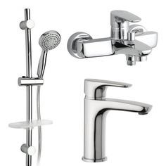 Комплект для раковины и ванны с душевой стойкой Paini Parellel 47CRKIT3 - 3 в 1